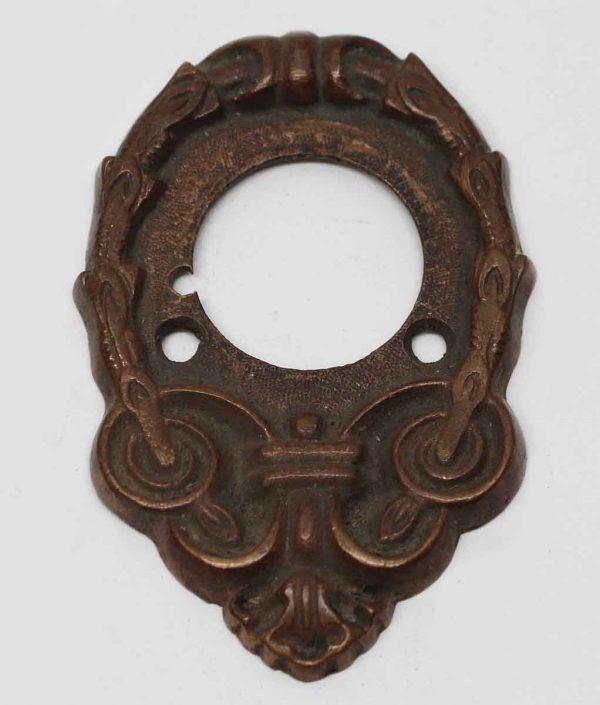 Knockers & Door Bells - Antique Victorian Bronze Door Bell Plate