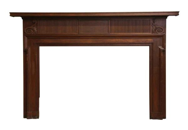 Mantels - Salvaged Mahogany Wood Federal Fireplace Mantel