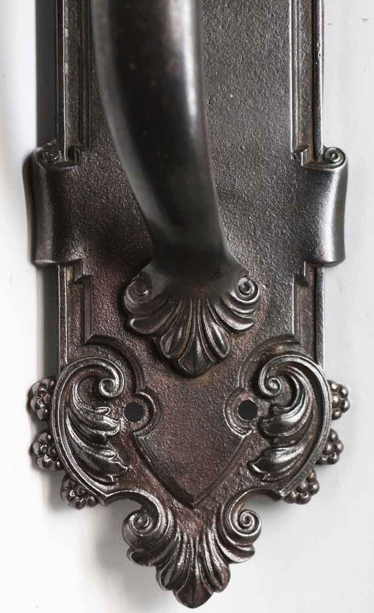 Antique French Black Cast Iron Door Pull Handle Olde Good Things