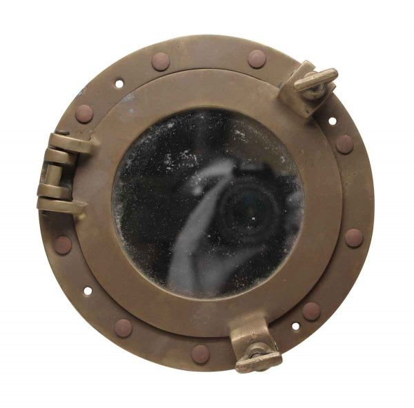 Nautical Antiques - Nautical Hand Cast Solid Brass Porthole Mirror