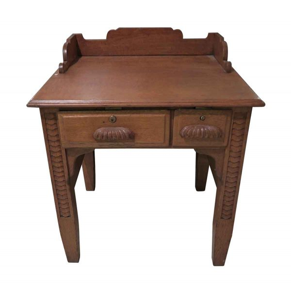 Office Furniture - Rare Petite Quarter Sawn Oak Desk