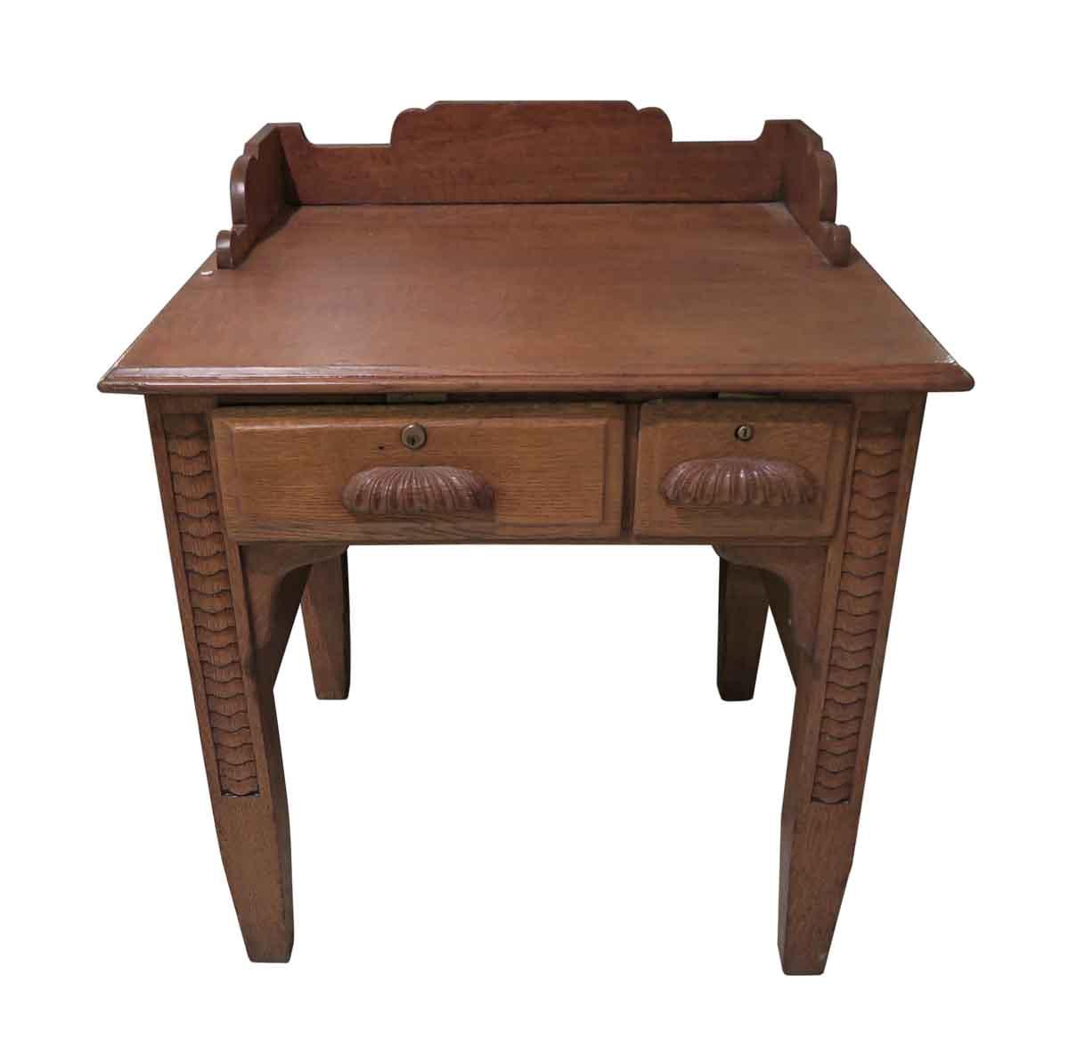 Office Furniture Rare Petite Quarter Sawn Oak Desk
