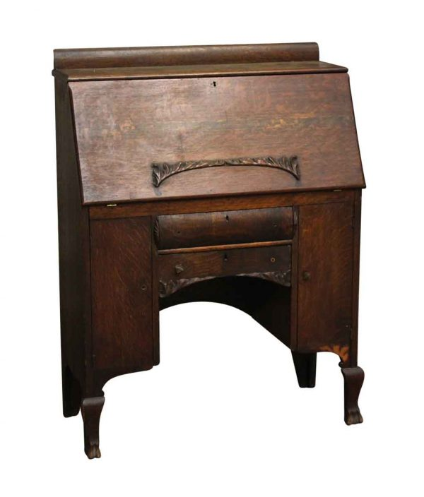 Office Furniture - Tiger Oak Turn of the Century Secretary Desk