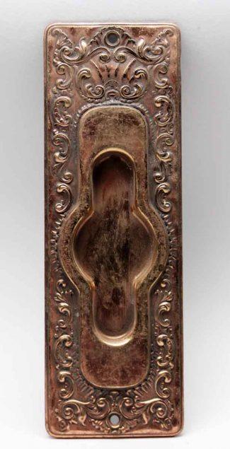 Antique French Pressed Brass Pocket Door Plate & Antique Pocket Door Hardware | Olde Good Things