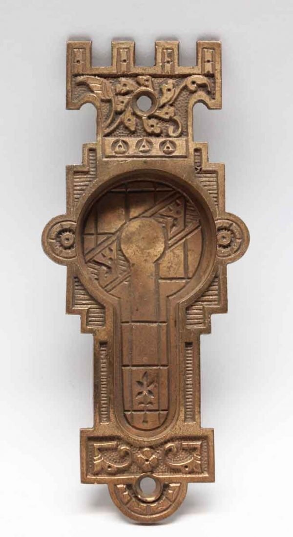 Pocket Door Hardware - Antique Vernacular Pocket Door Plate