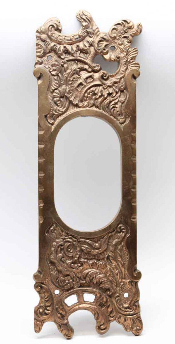 Pocket Door Hardware - Art Nouveau Reading Pocket Door Plate