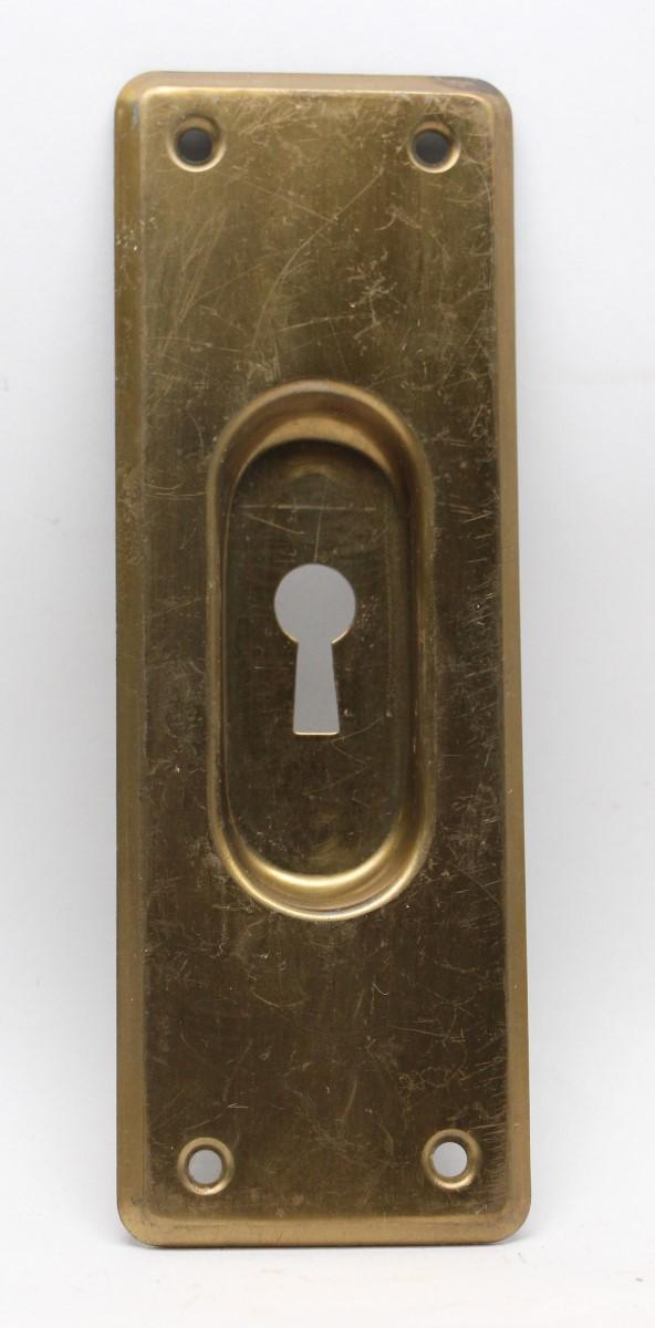 Pocket Door Hardware - Brass Plated Pocket Door Plate