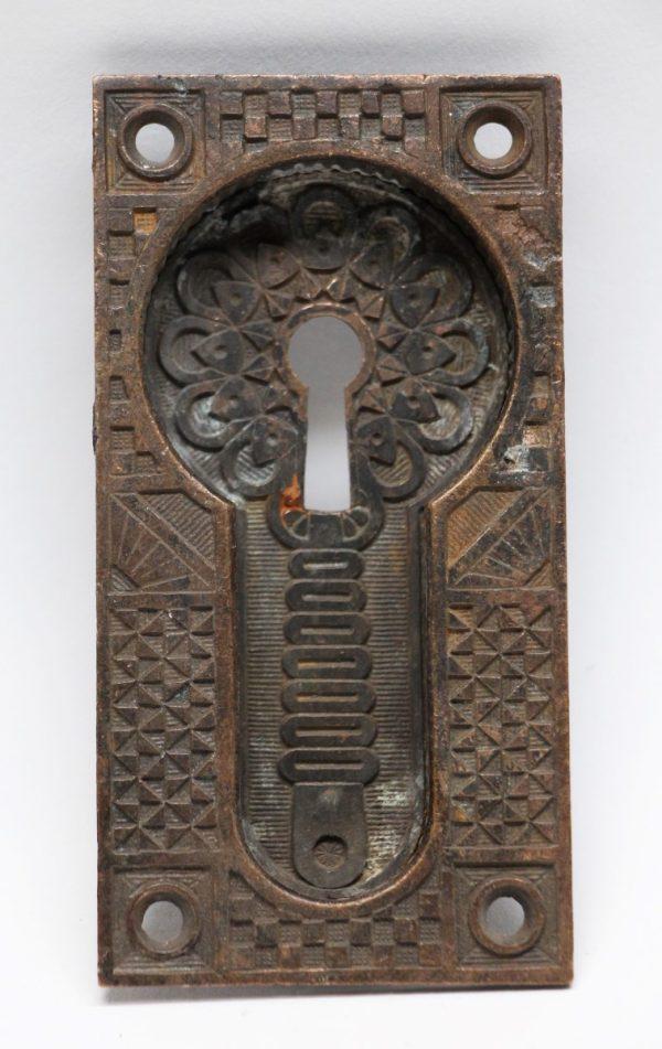 Pocket Door Hardware - Bronze Antique Pocket Door Plate