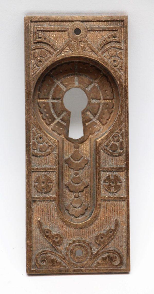 Pocket Door Hardware - Bronze Eastlake Pocket Door Plate