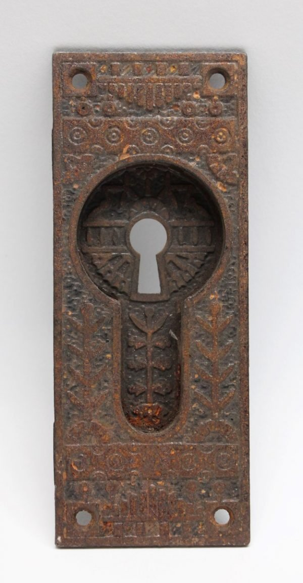 Pocket Door Hardware - Cast Iron Ornate Pocket Door Plate
