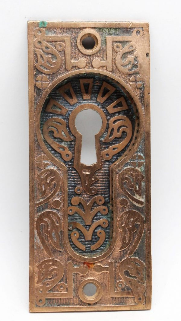 Pocket Door Hardware - Decorative Bronze Pocket Door Plate