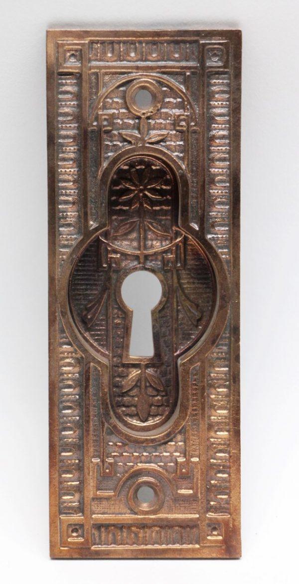 Pocket Door Hardware - Ornate Bronze Pocket Door Plate