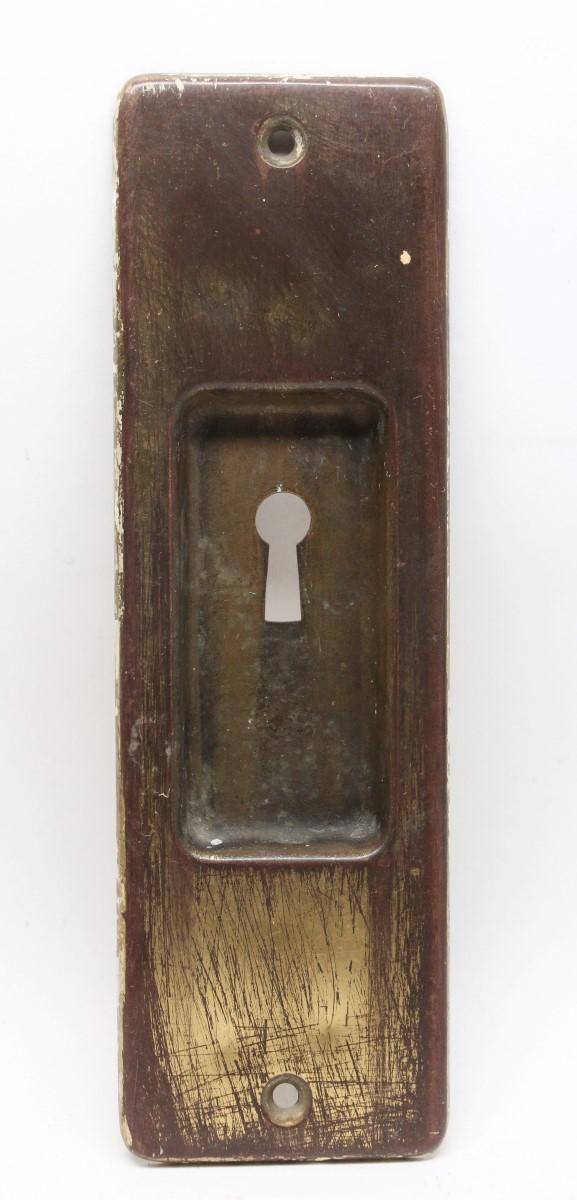 Pocket Door Hardware - Vintage Brass Yale Pocket Door Plate