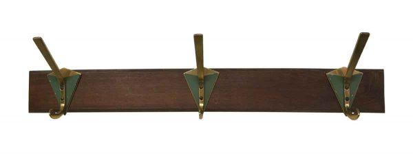 Racks - 3 Deco Hooks on Wood Plank