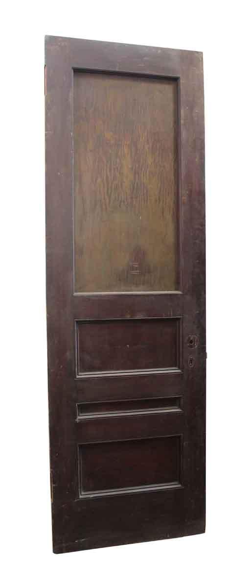 Standard Doors - Four Panel Dark Wood Tone Wooden Door