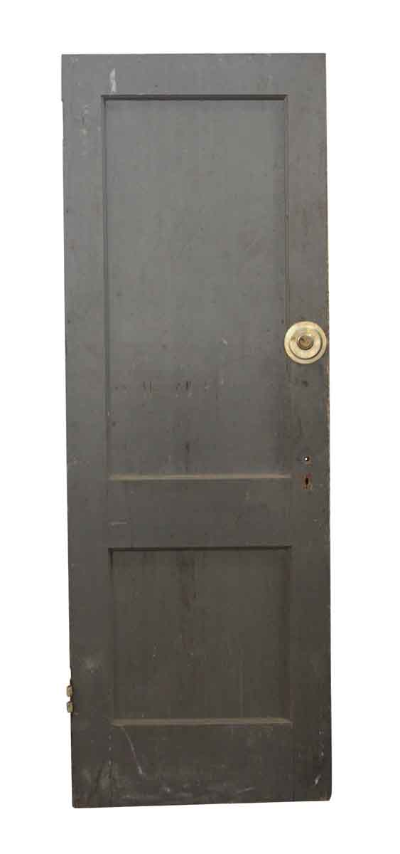 Standard Doors - Gray Wooden Two Panel Door
