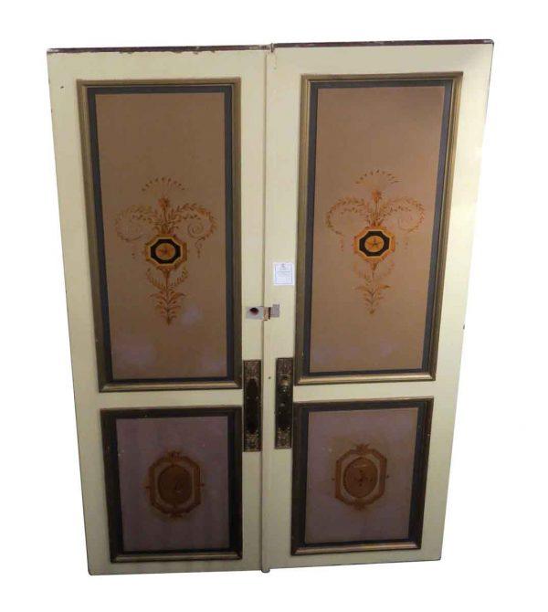 Standard Doors - Salvaged Waldorf Hand Painted Double Doors