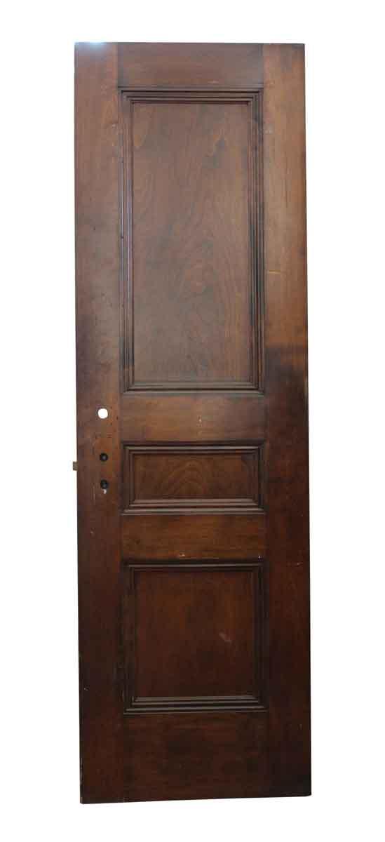 Standard Doors - Three Panel Dark Wooden Door