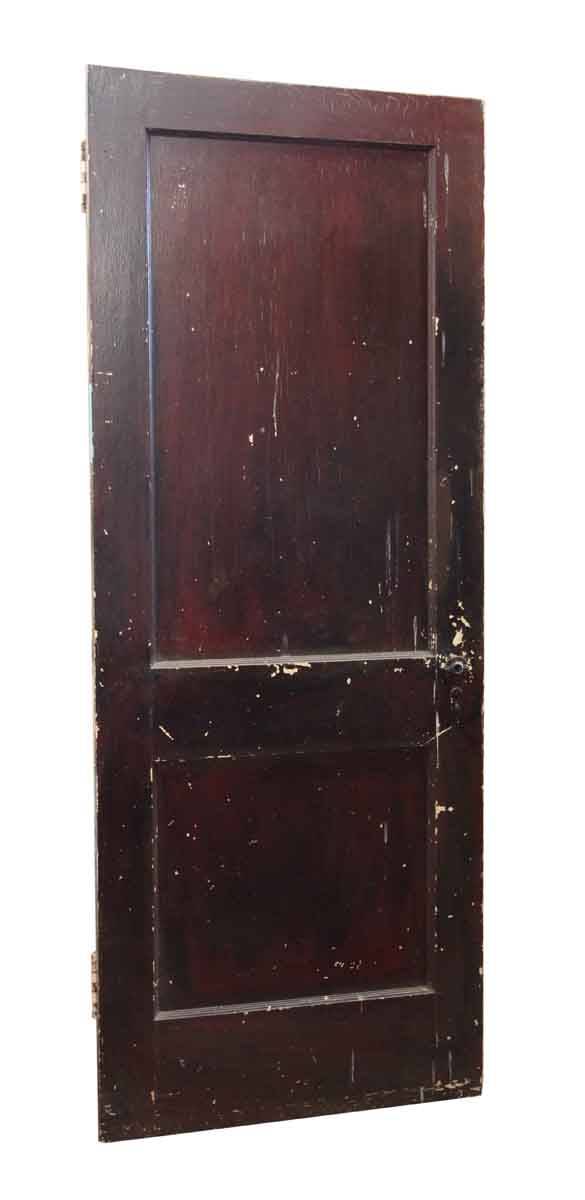 Standard Doors - Two Panel Dark Wood and White Door