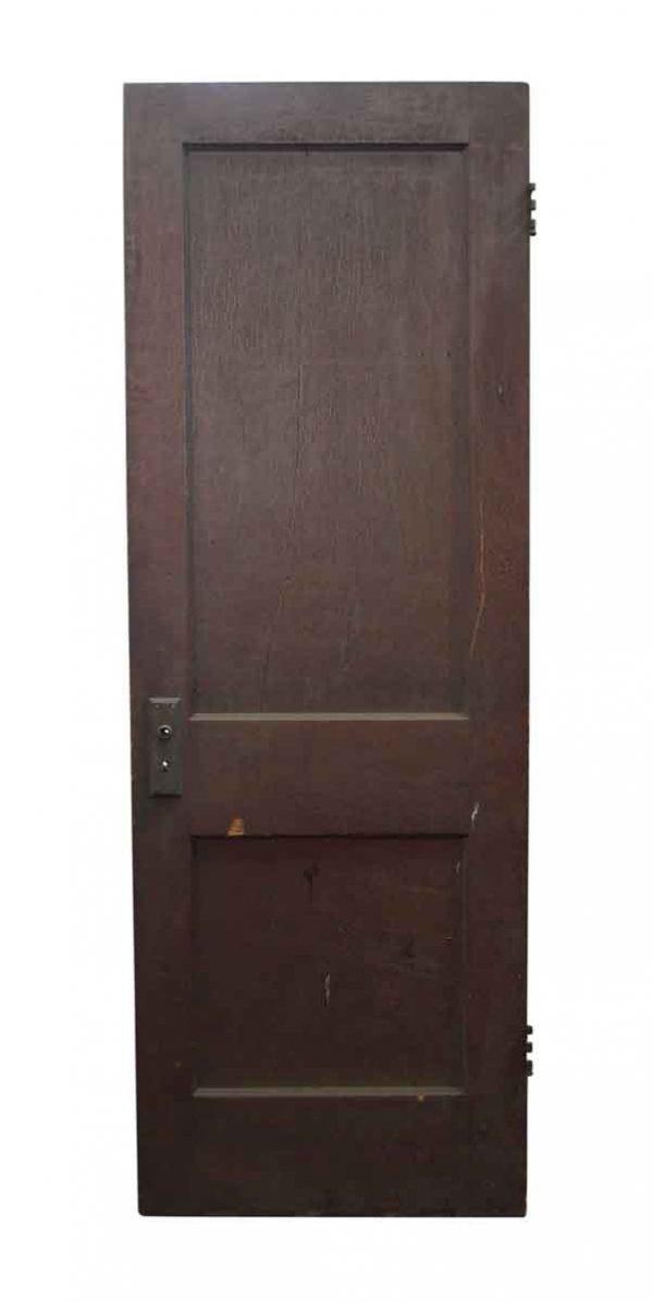 Standard Doors - Two Panel Dark Wooden Door