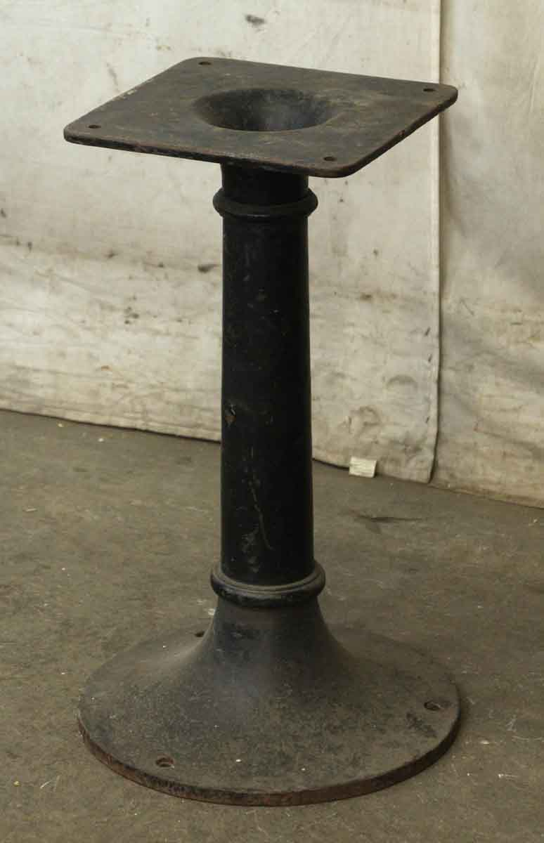 Black Cast Iron Pedestal Base With Nice Simple Design