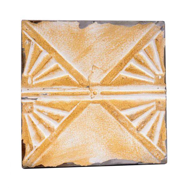 Tin Panels - Art Deco Style Orange Antique Tin Ceiling Panel