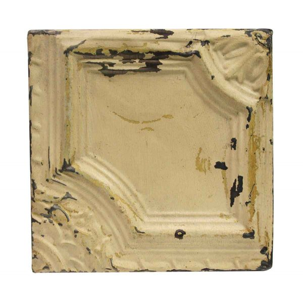 Tin Panels - Asymmetrical Tan Antique Tin Ceiling Panel