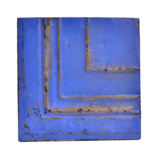 Tin Panels - Blue Corner Antique Tin Ceiling Panel