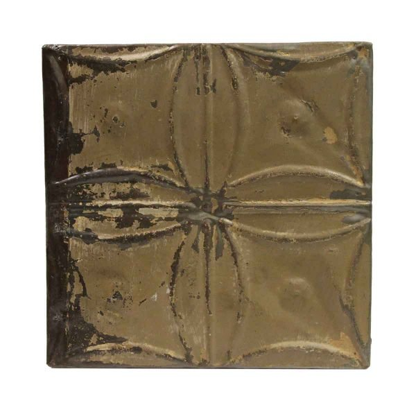 Tin Panels - Brown Curved Square Antique Tin Ceiling Panel