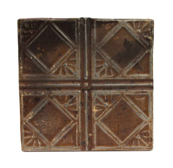 Tin Panels - Brown Four Fold Art Deco Tin Ceiling Panel