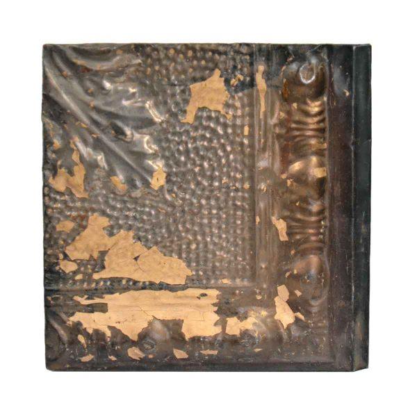 Tin Panels - Brown & Silver Corner Tin Panel
