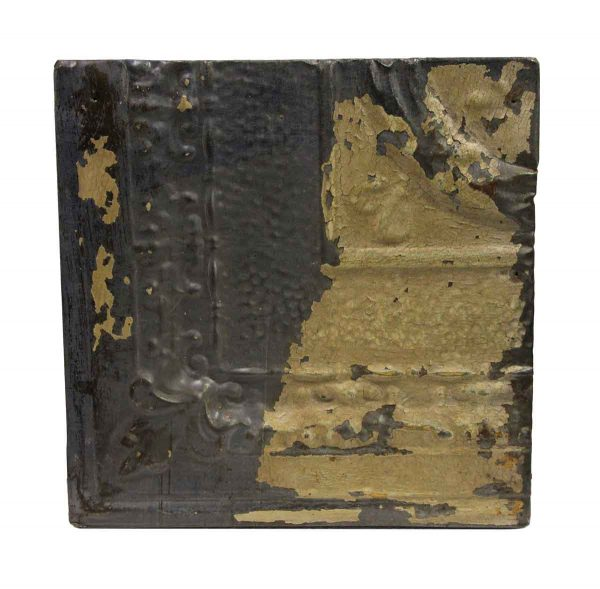 Tin Panels - Corner Black Distressed Antique Tin Panel