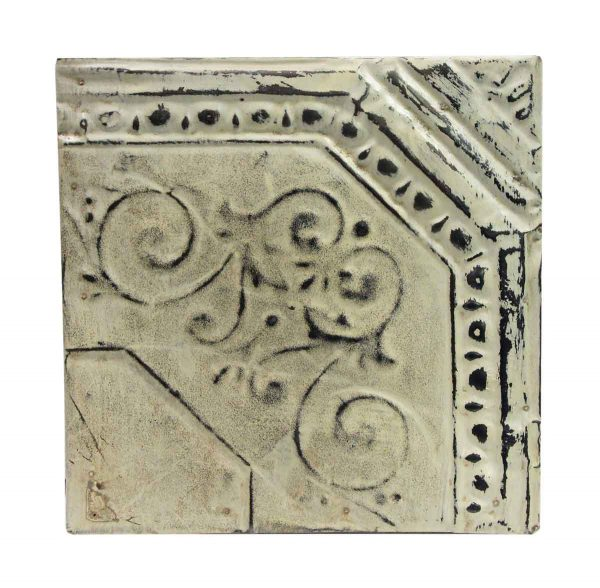 Tin Panels - Corner Cove White Antique Tin Panel