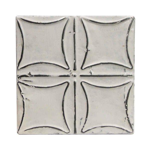 Tin Panels - Curved Squares White Antique Tin Panel