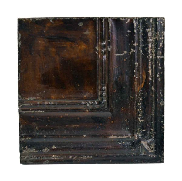 Tin Panels - Dark Brown Corner Antique Tin Panel