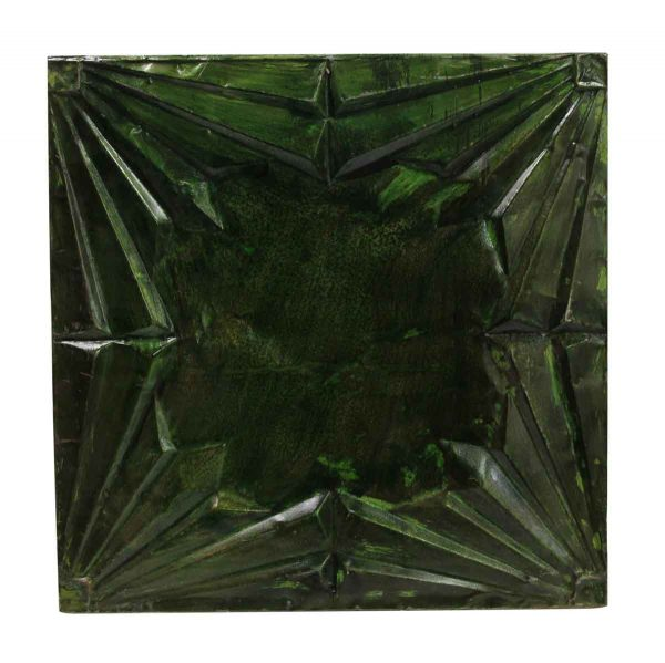 Tin Panels - Dark Green Art Deco Antique Tin Ceiling Panel