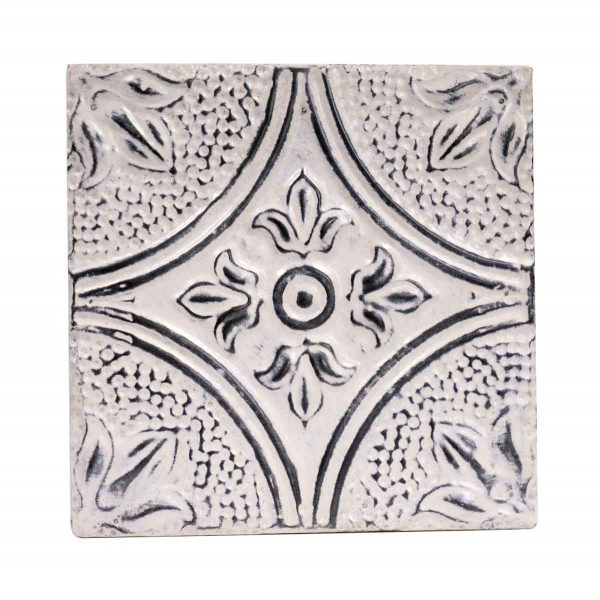 Tin Panels - Diamond Tulip Antique White Tin Panel