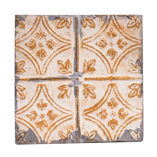 Tin Panels - Diamond Tulip Tan Antique Tin Ceiling Panel