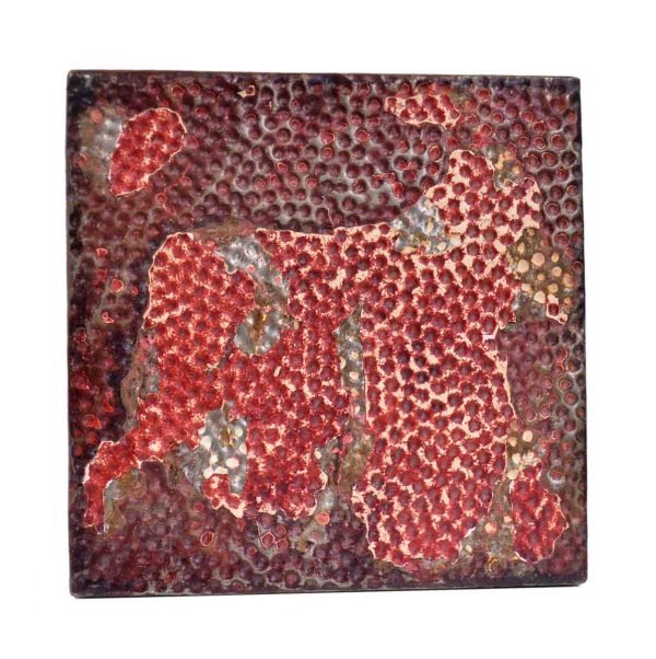 Tin Panels - Distressed Red Textured Tin Ceiling Panel