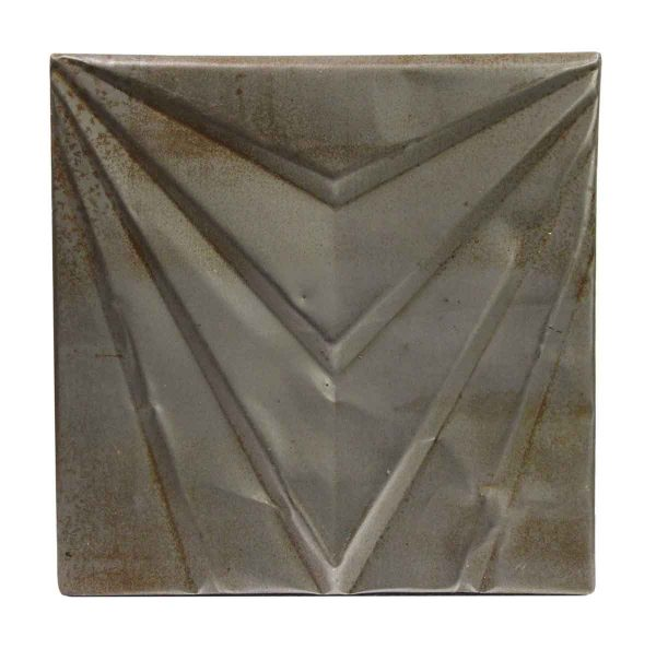 Tin Panels - Gray Art Deco Antique Tin Ceiling Panel