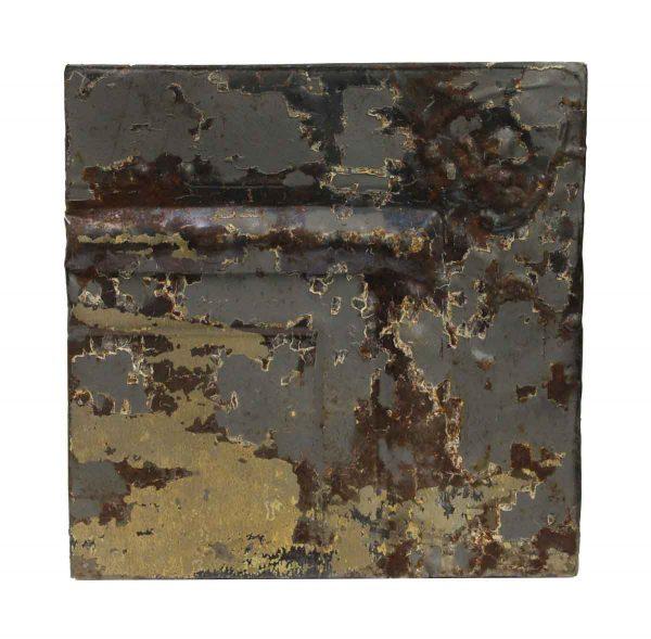 Tin Panels - Gray Distressed Corner Antique Tin Panel