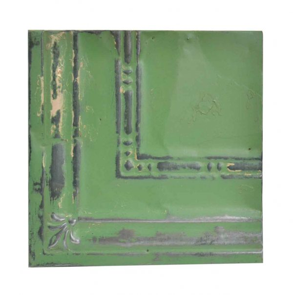 Tin Panels - Green Corner Antique Tin Ceiling Panel