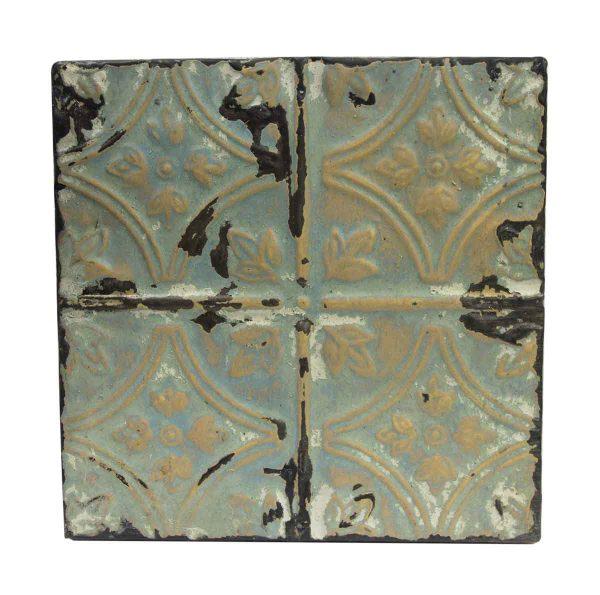 Tin Panels - Green Diamond Tulip Antique Tin Ceiling Panel