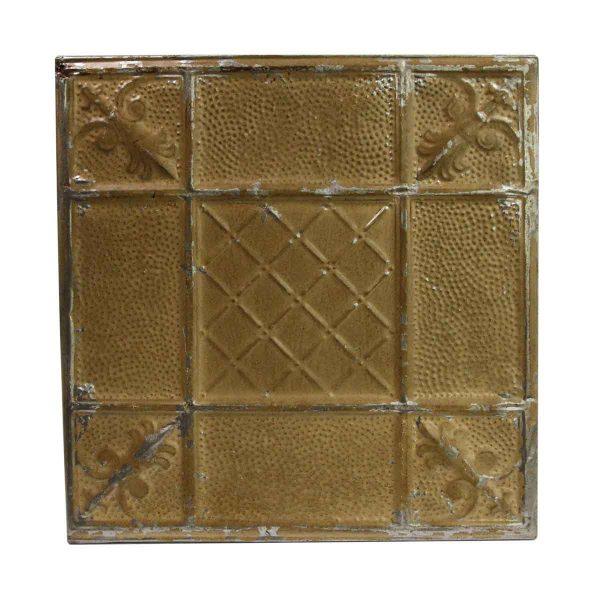 Tin Panels - Mixed Design Dark Tan Antique Tin Ceiling Panel