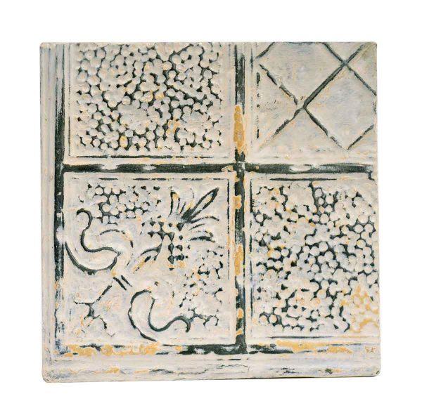 Tin Panels - Multi Pattern White Antique Tin Ceiling Panel