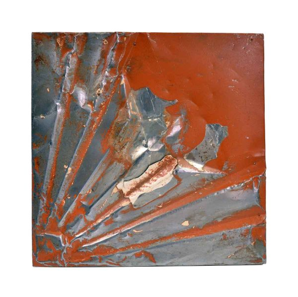 Tin Panels - Orange & Silver Art Deco Tin Ceiling Panel