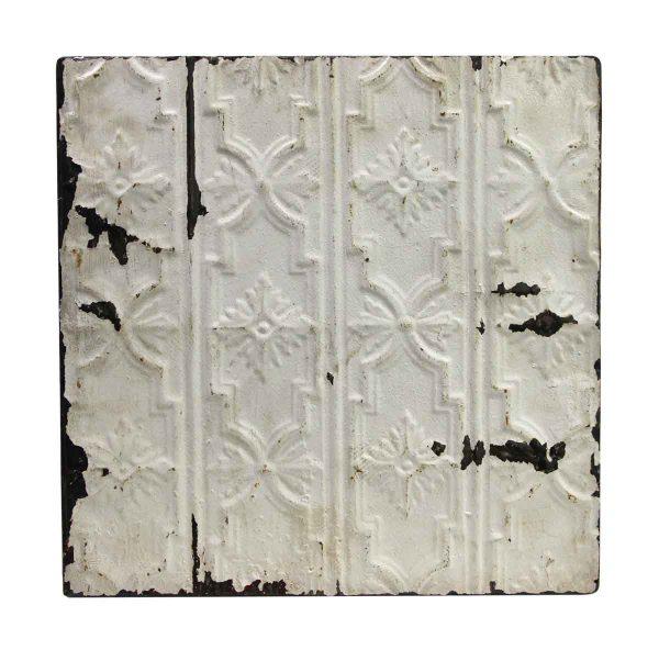 Tin Panels - Raised Snowflake White Antique Tin Ceiling Panel