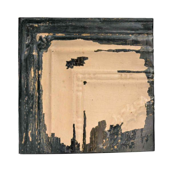 Tin Panels - Tan & Black Corner Antique Tin Ceiling Panel