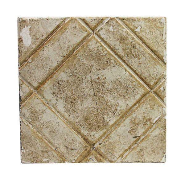 Tin Panels - Tan Four Fold Diagonal Antique Tin Ceiling Panel