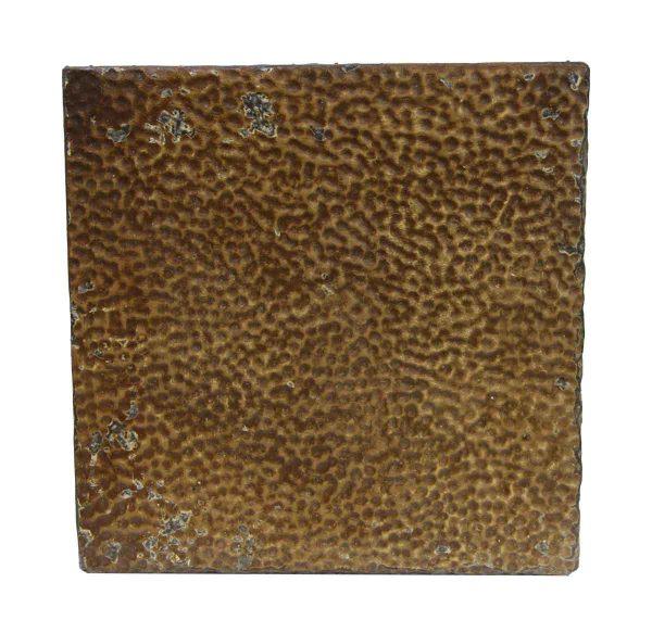 Tin Panels - Textured Brown Tin Ceiling Antique Panel